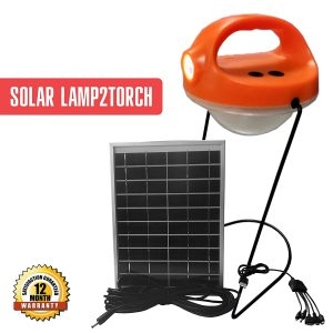 Lamp 2 Torch Solar Emergency Light with Mobile Charging